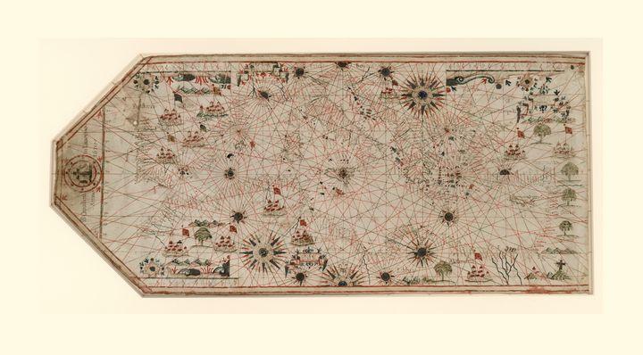 Portolan Chart Mediterranean (1678) - Yvonne