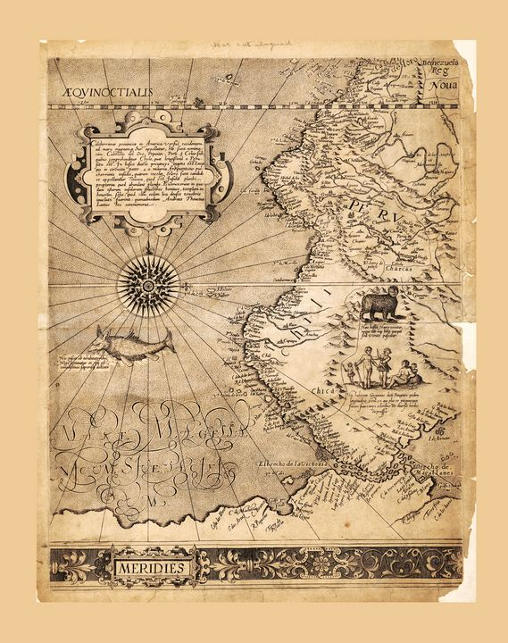 Map of Western South America (1569) - Yvonne