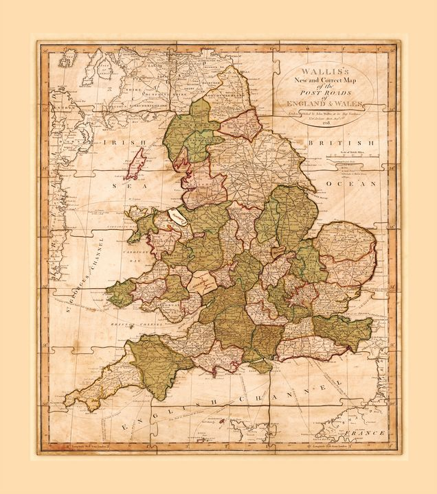 Map of England and Wales (1810) - Yvonne