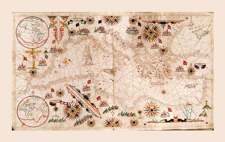Portolan Chart Mediterranean (1640) - Yvonne