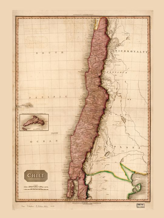 Map of Chile (1818) - Yvonne