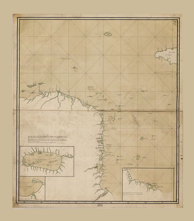 Map of the Mosquito Shore (1781) - Yvonne