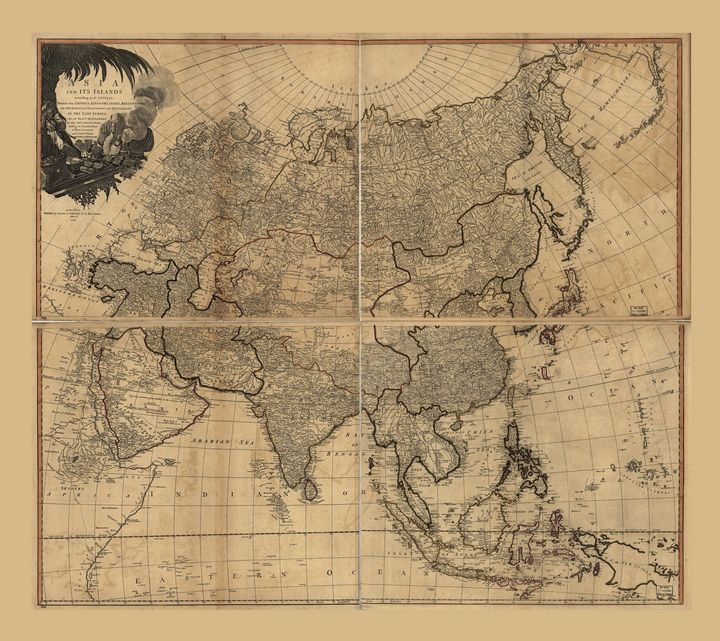 Asia and its islands Map (1799) - Yvonne