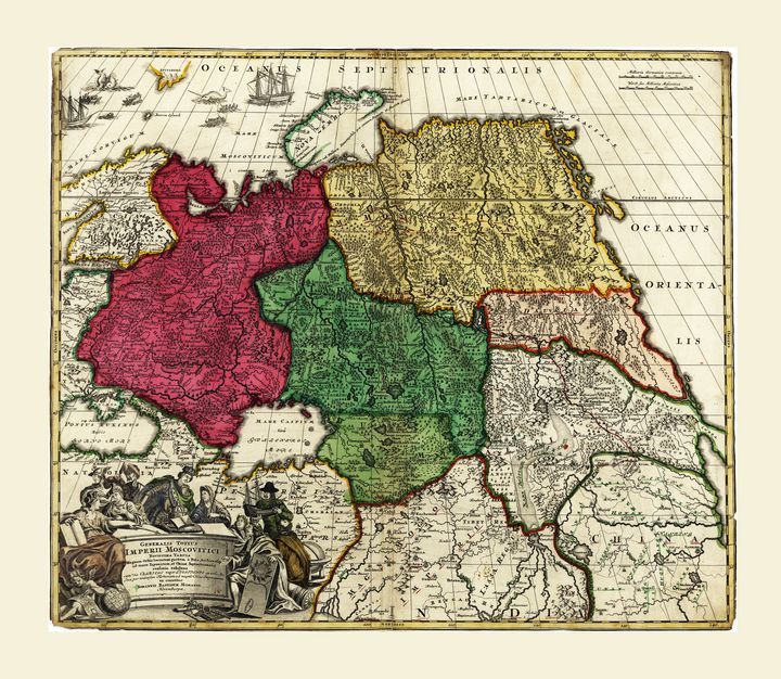 Map of Russia (1704) - Yvonne