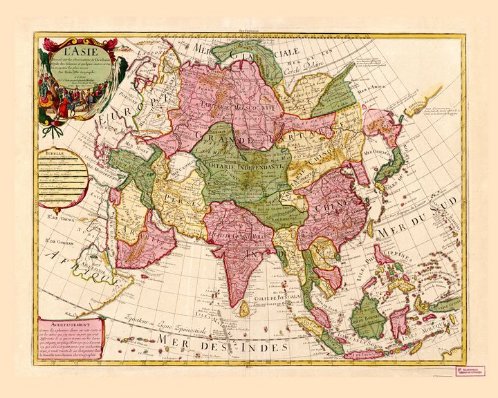 Map of Asia (1700) - Yvonne