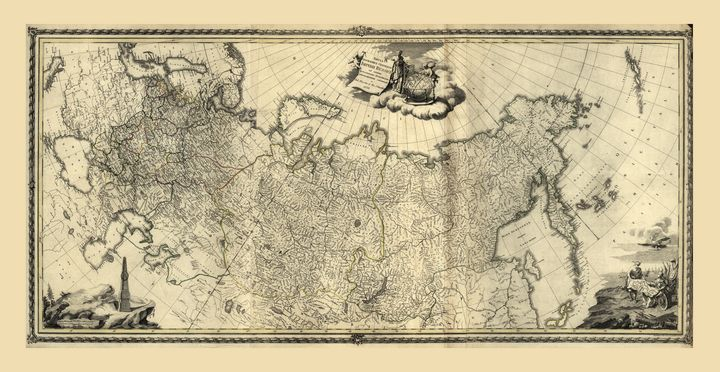 Map of Russia (1776) - Yvonne
