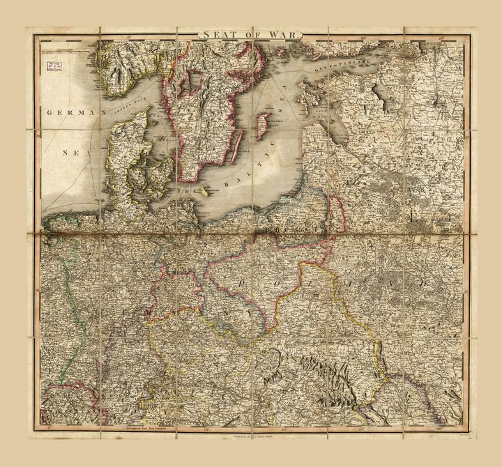 Map of Germany (1813) - Yvonne