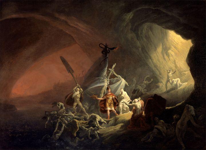 Aeneas and the Sibyl (circa 1800) - Yvonne