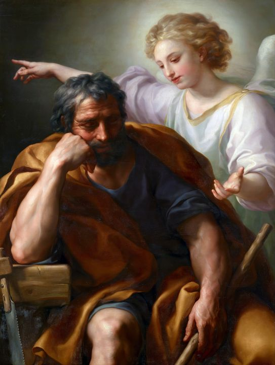 The Dream of St Joseph by Mengs 1774 - Yvonne