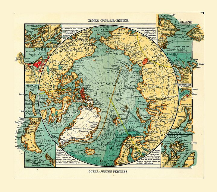 Map of the Arctic Ocean (1906) - Yvonne