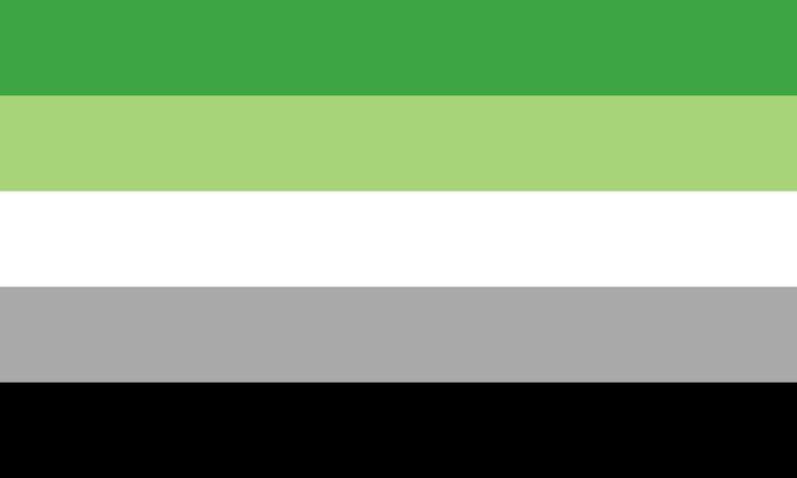 Aromantic flag - Yvonne