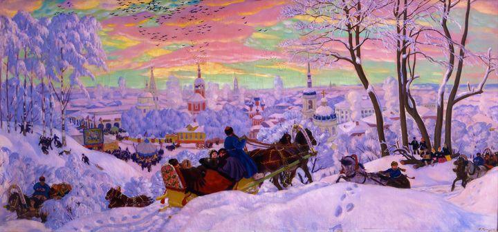 Shrovetide by Boris Kustodiev (1916) - Yvonne