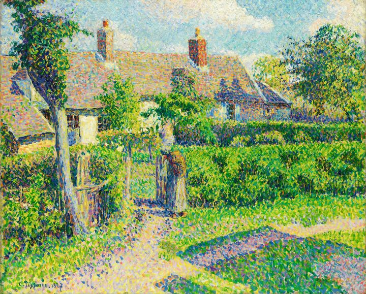 Peasants' Houses, Eragny (1887) - Yvonne