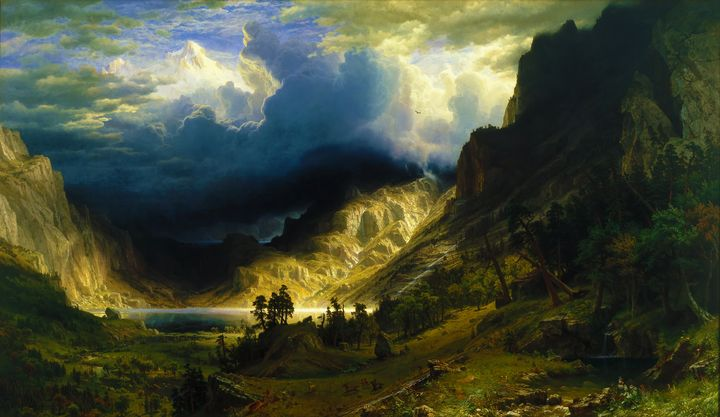 A Storm in the Rocky Mountains 1866 - Yvonne