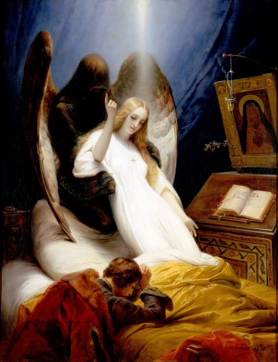 Angel of Death by Horace Vernet 1851 - Yvonne