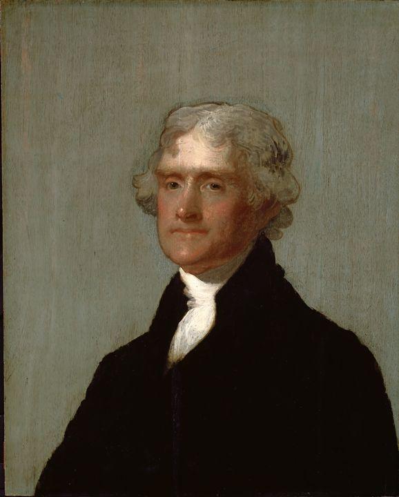Thomas Jefferson by Gilbert Stuart - Yvonne