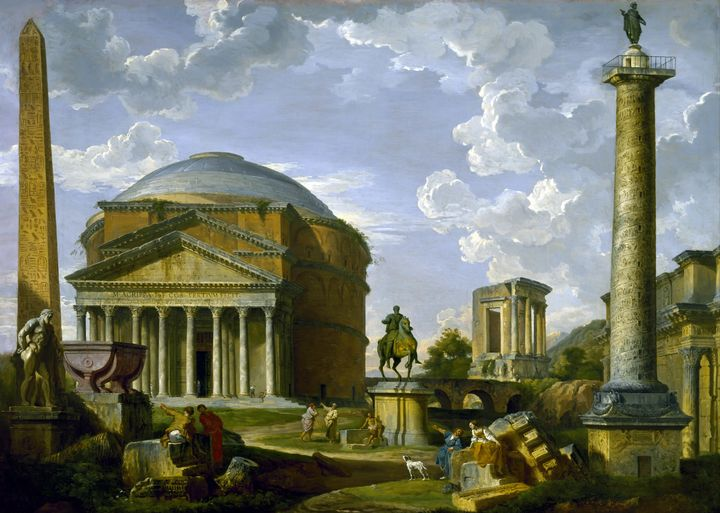 Fantasy View with the Pantheon - Yvonne