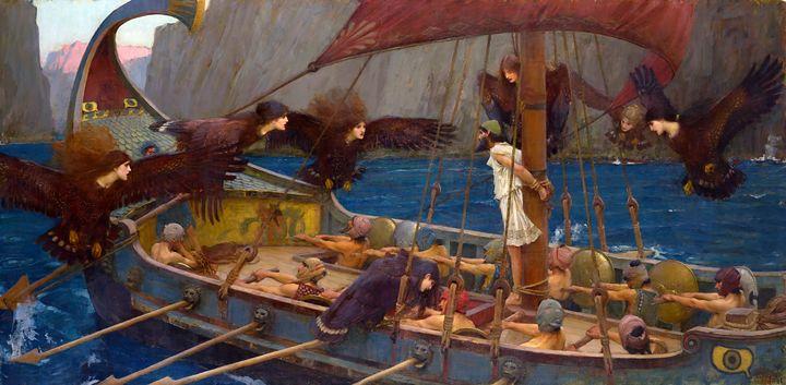 Ulysses and the Sirens (1891) - Yvonne