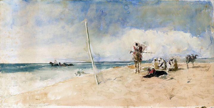 African Beach by Marià Fortuny 1867 - Yvonne