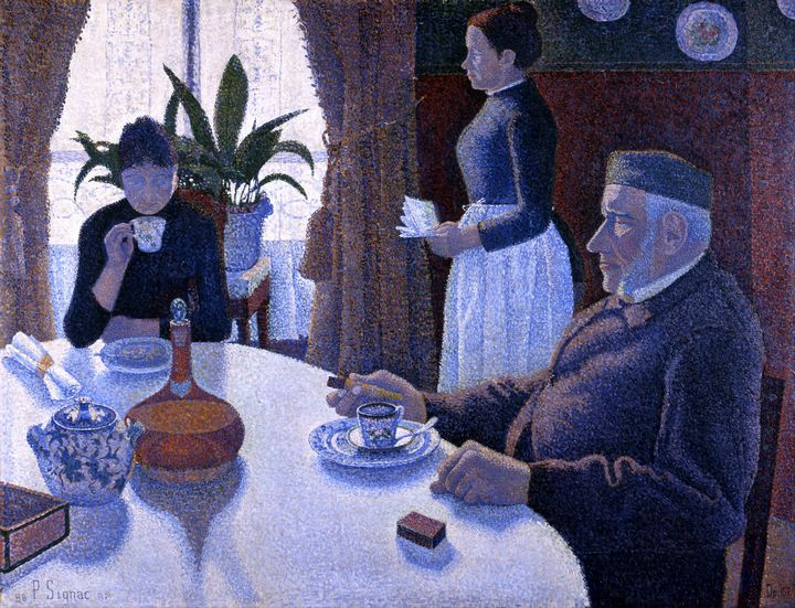 The Dining Room by Paul Signac 1887 - Yvonne
