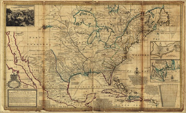 Map of America (1720) - Yvonne