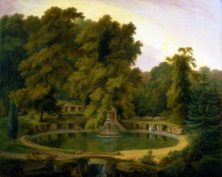 Temple Fountain & Cave in Sezincote - Yvonne