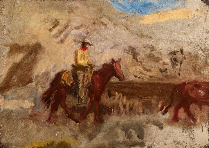 Sketch of a Cowboy at Work (1887) - Yvonne