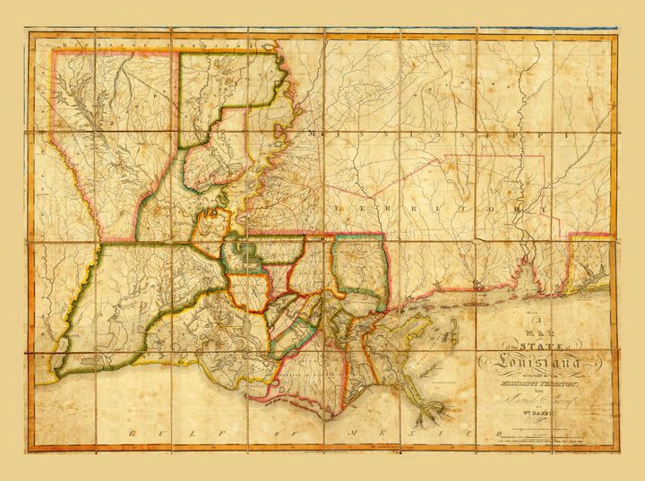Map of Louisiana (1816) - Yvonne
