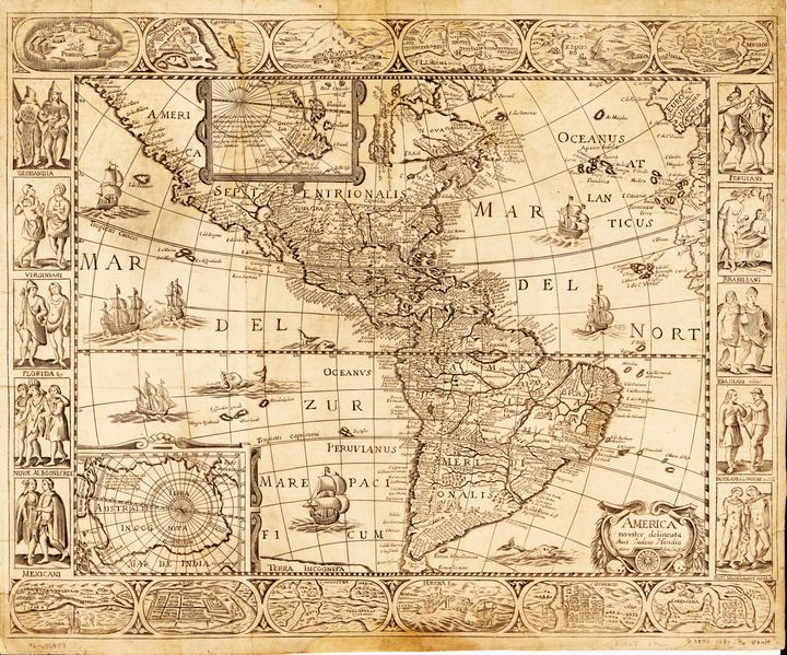 North and South America Map 1670 - Yvonne