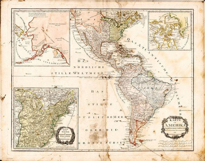 North and South America Map (1795) - Yvonne - Drawings ...