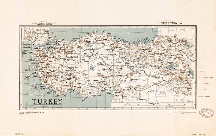 Map of Turkey (1943) - Yvonne