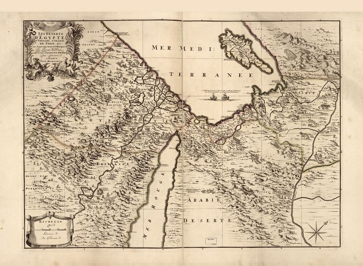 Deserts of Egypt Map (1693) - Yvonne