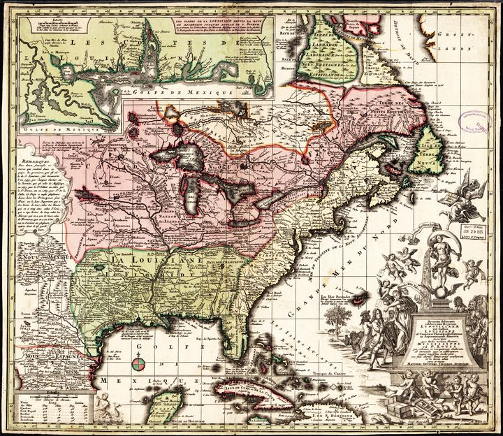 Map of America (1734) - Yvonne