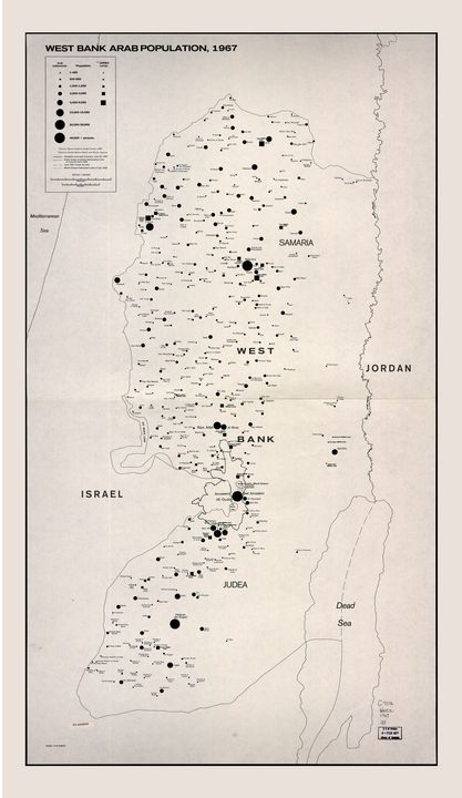 West Bank Arab Population Map (1967) - Yvonne