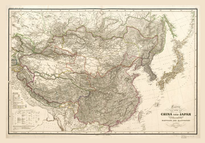 Map of China and Japan (1843) - Yvonne