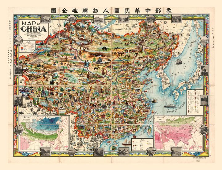 Map of China (1931) - Yvonne