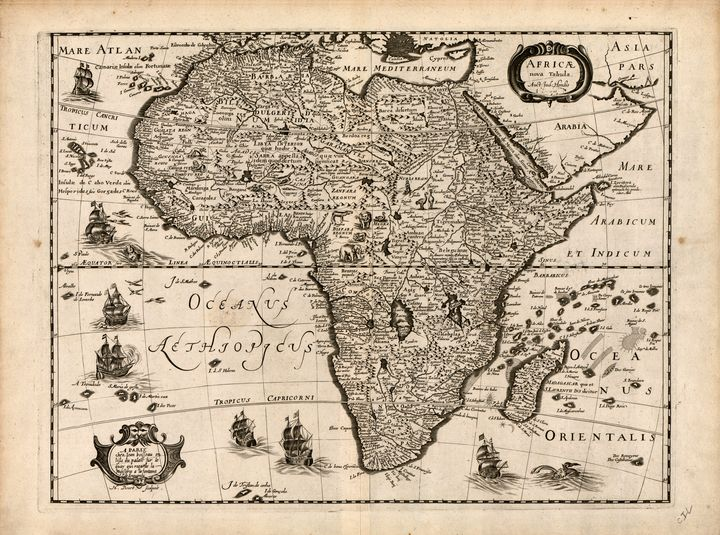 Map of Africa (1640) - Yvonne