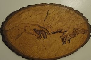 Pyrography Illustration Of Creation