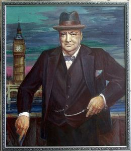 Portrait of Sir Winston Churchill - Evgeny Fedorishchev