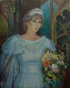 The portrait of Princess Diana - Evgeny Fedorishchev