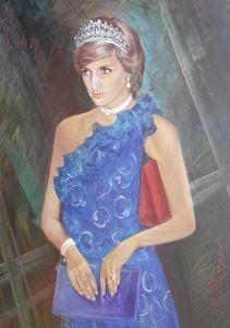 The portrait of Princess Diana - Evgeny Fedorishchev