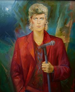The portrait of David Bowie