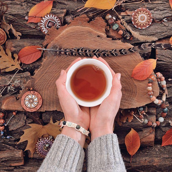 Autumnal tea drinking - MorozV