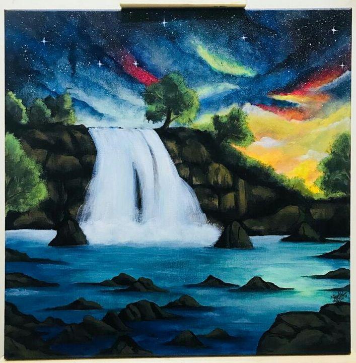 The magical falls - Fs inscape. ART by Femi