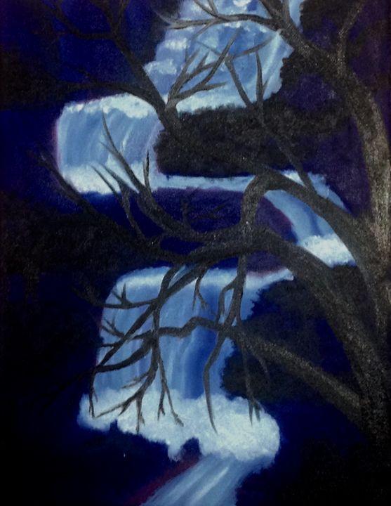 Dark Blue Falls - The Angels Paintings