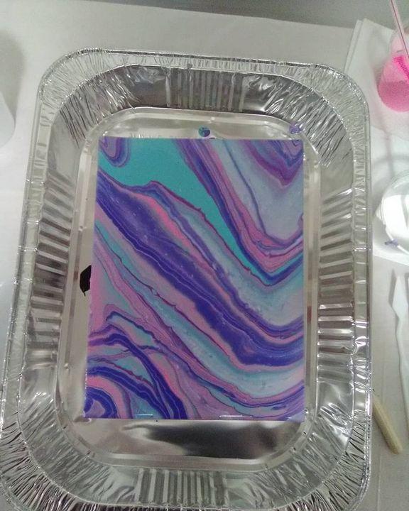 Pour Paint Piece - Art By Lyss