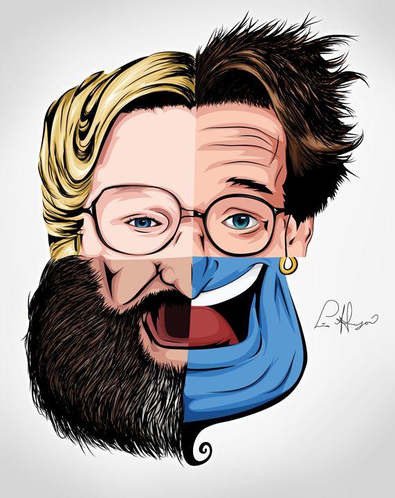 4 Faces of Robin Williams - Lina Garzon