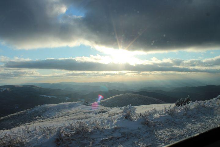 Wintery Sunset - Aaryn Buckholtz