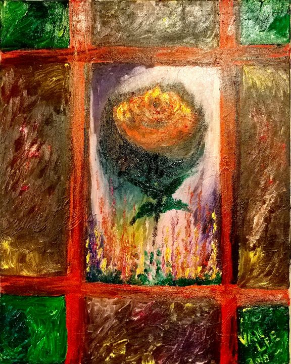 Rose in the Window - Van Lee