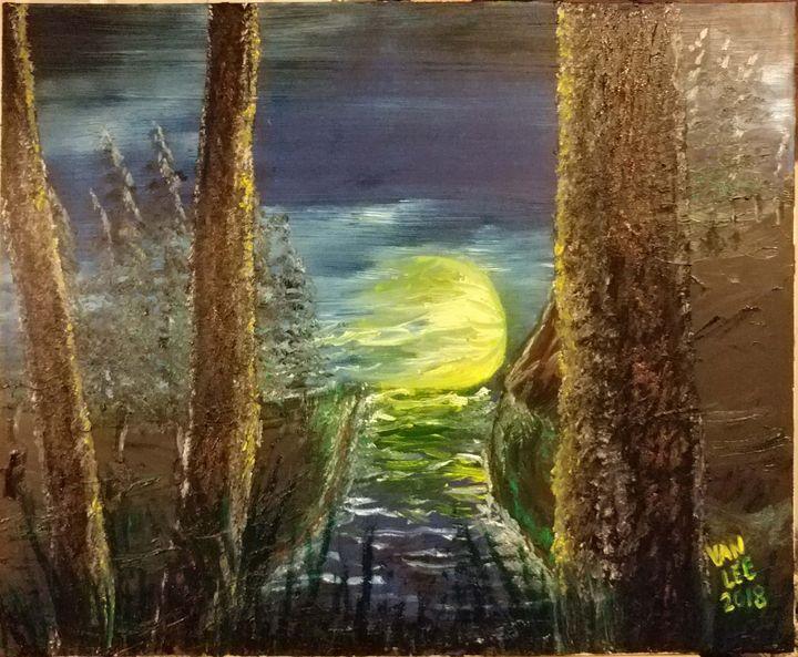 Nighttime Cold River - Van Lee
